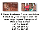 Actor & Modeling Business Cards